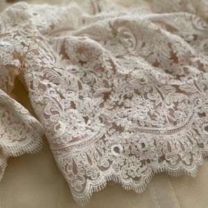 BHLDN Ivory, lace Wedding dress top.